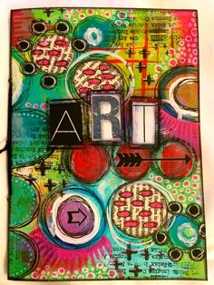 Handmade art journal. Front cover