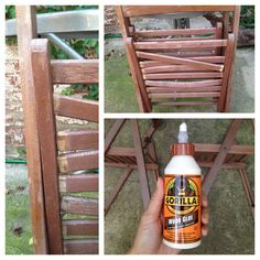Gorilla Glue Giveaway – Re-Seat those Wooden Chair Slats with Gorilla Wood Glue