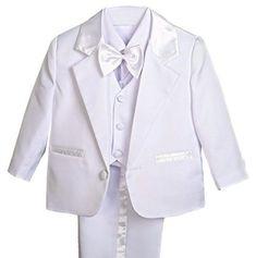 Dressy Daisy Baby Boy' 5 Pcs Set Formal Tuxedo Suits No Tail Christening Outfits Formal Tuxedo, Smoking, Christening Outfit, Baby Suit, Tuxedo Suit, Baby Boy, Blazer, Suits, Coat