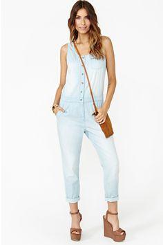 Jean jumpsuit! #casual #cute