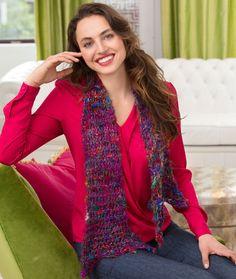 Drop Stitch Knit Scarf