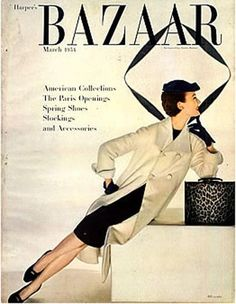 Ciao Bellissima - Vintage Cover Coquettes; Evelyn Tripp for Harper's Bazaar March 1958