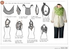 scarf tutorial that I wouldn't have guessed. Gotta try this.