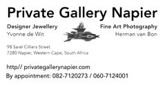 Me and my partner of lifeopened in April 2017our own Private Gallery in Napier, Western Cape, South Africa. Visits 'by appointment'; see website or below for contact details. The gall…