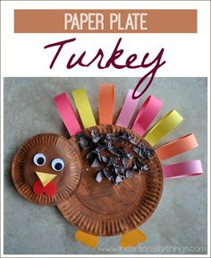 Paper Plate Turkey Craft for Kids | Fun craft for Thanksgiving | www.iheartcraftythings.com
