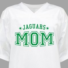 Cheer on your superstar wearing this personalized jersey for #mom!