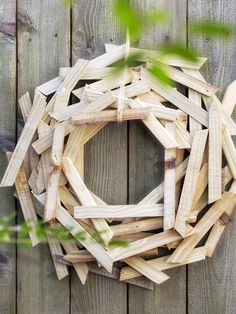 Give scrap wood New Life...Creative Holiday Decorations for Your Front Door : Decorating : HGTV