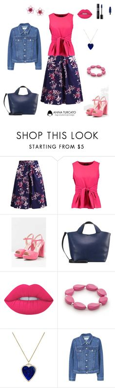 """Girly girl"" by annaturcato ❤ liked on Polyvore featuring New Look, Lime Crime, Kim Rogers, Jennifer Meyer Jewelry and Dsquared2"