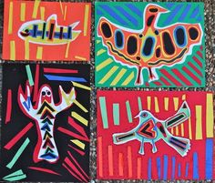 Panama Mola Multicultural Art Project- folkart from Central America. This colorful paper project would be great for a Latin American unit or to study Hispanic culture.