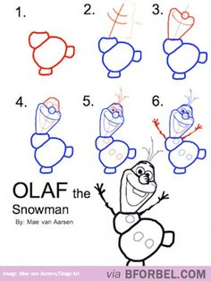 Drawing Olaf… | B for Bel