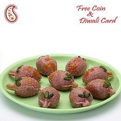 Stuffed Kajoo Lichees with Free Laxmi Ganesh Coin
