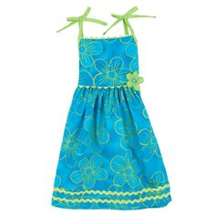 Floral-print Sundress with Wavy Lace $11.99