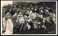Kyoto Maiko apprentice Geisha 写真絵葉書京都舞妓芸者大正時代