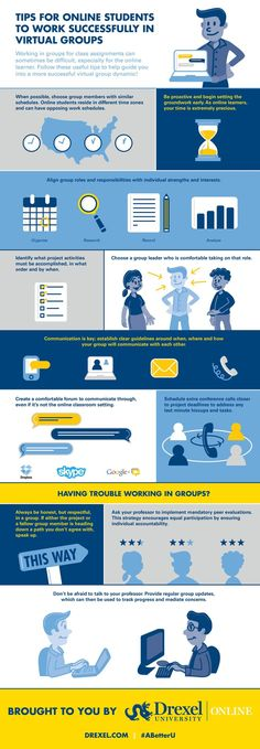 Educational infographic : 11 Tips for Working Successfully in Virtual Groups Infographic  e-Learning Info