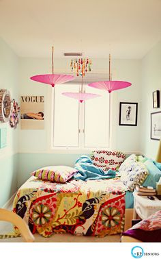 colorful, cozy bedroom