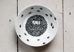 Bowl / Dish  Hedgehog love by nolloresmiquerida on Etsy,