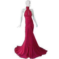 Alexander McQueen halter neck gown - gorgeous!