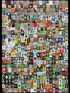 Appalachian Trail symbol collage