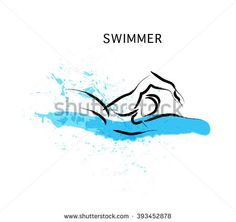 Image result for sketch of person swimming in the ocean
