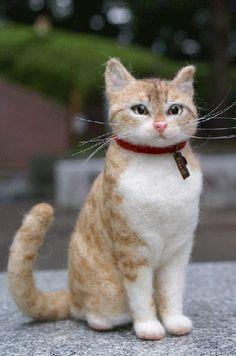Orange Tabby felt cat