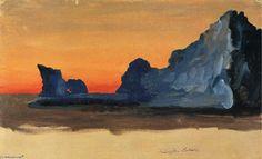 Icebergs at Midnight, au Labrador, huile de Frederic Edwin Church (1826-1900, United States)