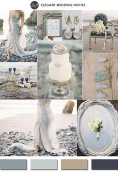 neutral colors glacier gray 2015 spring wedding colors trends #elegantweddinginvites: