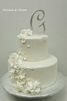 White on White Wedding Cake