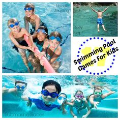 Swimming pool games for kids are a great way to spend the summer vacation hours. From bobbing to splashing, here are fun water games for the swimming pool Swimming Pool Games, Swimming Party Ideas, Cool Swimming Pools, Pool Fun, Kids Swimming, Fun Water Games, Fun Games, Pool Activities, Learn To Swim