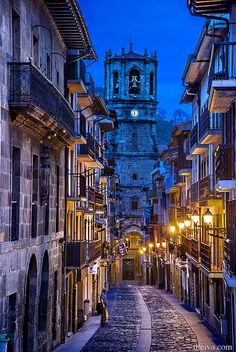 Getaria, Iglesia de San Salvador - Church of San Salvador Basque Country, Spain Places Around The World, Travel Around The World, Around The Worlds, San Salvador, Places To Travel, Places To See, Basque Country, Spain And Portugal, Aragon