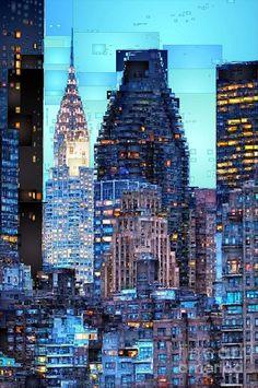 New York City Digital Art by Rafael Salazar