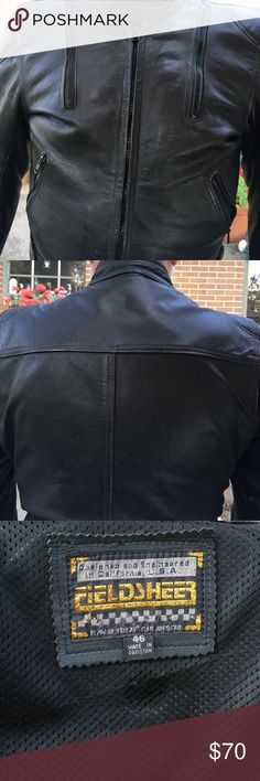 Men's Motorcycle Jacket Light padding - shoulders and back and elbows. Worn but in good shape. All leather - heavy gauge Fieldsheer Jackets & Coats