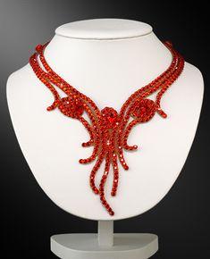 Zdenka Arko Hyacinth Crystallized Necklace NC11005-07 - Rhinestone Jewelry   Dancesport Fashion @ DanceShopper.com
