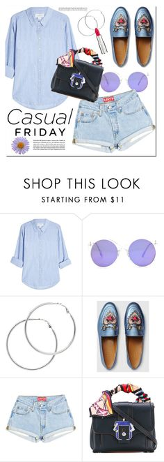 """""""Casual friday"""" by monica-dick on Polyvore featuring Velvet, Melissa Odabash, Gucci, Paula Cademartori and Givenchy"""