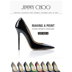 Jimmy choo - Make a Point in New Season Colours / Discover must-have pointy toe pumps in scaling heights.