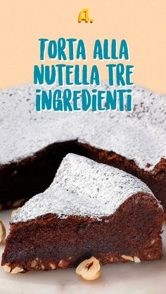 Italian Cooking, Italian Recipes, Nutella Cake, Something Sweet, Original Recipe, Biscotti, Cake Recipes, Food And Drink, Sweets