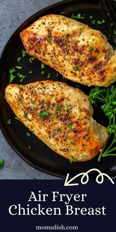 This Air Fryer Chicken Breast comes together in just minutes. It is so juicy and tender on the inside while crispy on the outside. A huge plus, it is SOOO good for you!
