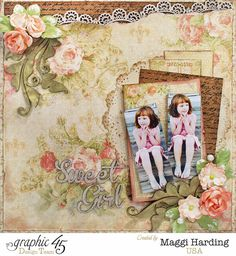 Maggi's layout using the Baby to Bride Deluxe Collector's Edition.  Tutorial link on Maggi's blog.