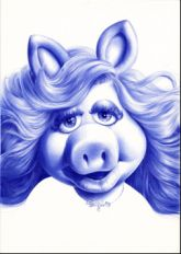 Cary Kwok 'Miss Piggy 2008 would make a great thigh/hip tattoo mostly gray work with some pink and blonde hair and make her eyes match mine Miss Piggy, African American Movies, The Muppet Show, Still Love Her, Cute Piggies, This Little Piggy, Ideal Beauty, Henna Designs, Disney Art