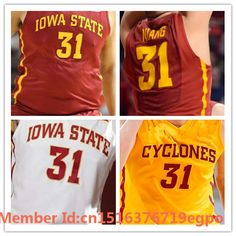 100% Stitched 2016 Iowa State Cyclones Jersey 31 Georges Niang Jersey College Basketball Jerseys,Embroidery Red White XXS 6XL-in Basketball Jerseys from Sports & Entertainment on Aliexpress.com | Alibaba Group