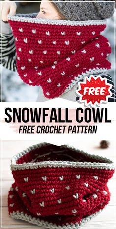 crochet Snowfall Cowl free pattern crochet Snowfall Cowl free pattern,Loop'S crochet Snowfall Cowl free pattern - easy crochet cowl pattern for beginners hour crochet hat scrunchie pattern free crochet hat crochet projects knitting projects Mode Crochet, Knit Crochet, Easy Crochet Hat, Crochet Cowl Free Pattern, Knit Shawl Patterns, Easy Knitting, Crochet For Beginners, Crochet Crafts, Easy Crochet Projects