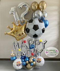 Soccer Birthday Parties, Daddy Birthday, Gold Birthday Party, Balloon Crafts, Birthday Balloon Decorations, Birthday Balloons, Balloon Bouquet, Balloon Arch, Balloon Garland