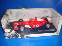Coche metal escala 1:18 FERRARI F1 F2004 Michael Schumacher Hot Wheels 1/18