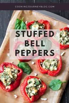 Vegetarian stuffed peppers are perfect appetizers. Quick and easy snacks that can be enjoyed warm or cold. Try this healthy red bell pepper recipe!