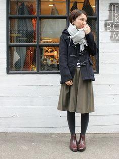 まだまだ寒い日は…「ダッフルコート」を大人可愛く着こなそう♪素敵なコーディネート集