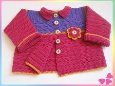 Häkelanleitung: Weste für Kleinkind (12 – 18 Monate) mit Häkelblume Sweaters, Fashion, Tricot, Owl Crochet Patterns, Crochet Toddler, Flower Crochet, Crochet Clothes, Vest, Moda