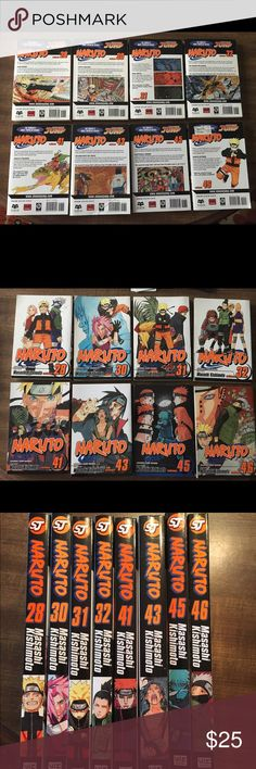 Naruto Japanese Manga Series Naruto is a Japanese manga series. It tells the story of Naruto Uzumaki, an adolescent ninja with an incorrigible knack for mischief. He has a wild sense of humor but is completely serious about his mission to be the world's greatest ninja! 8 paperback books total. Like new! Other
