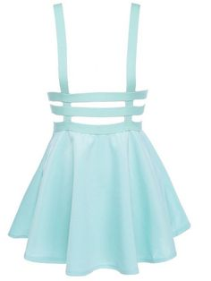 Kawaii preppy style suspender skirt with braces door KittenOfSaturn