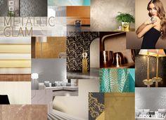 Tapeten Trends 2016 - A.S. Création Tapeten AG - Metallic Glam  #tapetentrend #wallpaper #wallcovering #aswallpaper #ascreation #metallicglam