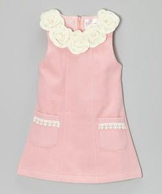 Take a look at this Pink Flower Pocket Dress - Toddler & Girls by Blossom Couture on #zulily today!