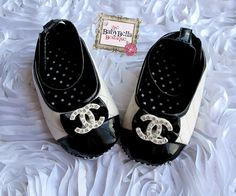 Baby Girl Crib Shoes cc rhinestones by TheBabyBellaBoutique, $22.00